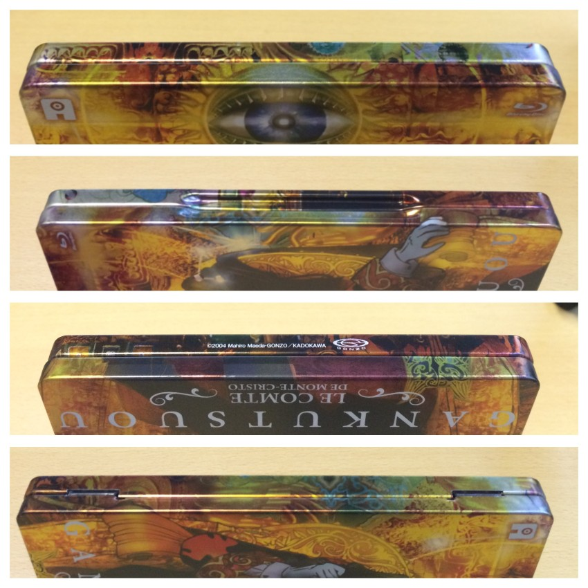 All four spines of the Steelbox