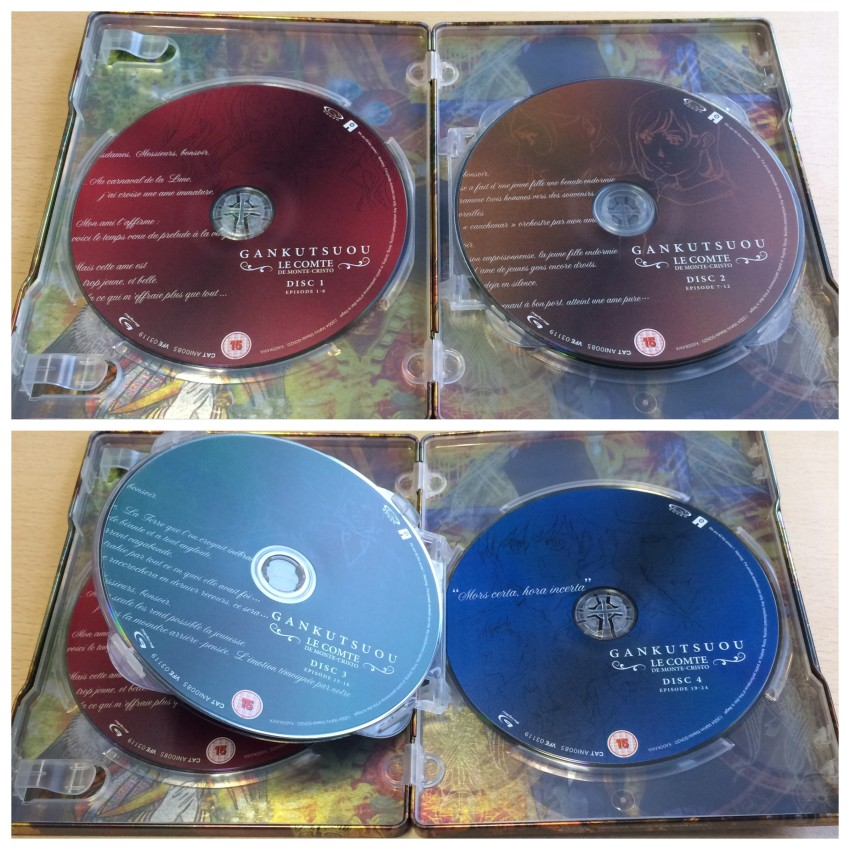 There are four disc holders total. Discs 1 & 2 (top) and Discs 3 & 4 (bottom)