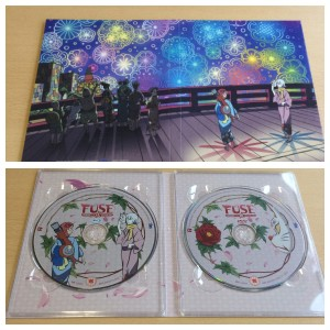 Both sides of the digipack, the top of the outside of it, the bottom is the inside with the discs present