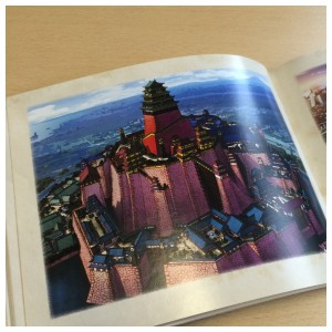 Section 2 of the artbook puts the focus on background imagery. Here's a glimpse at that section