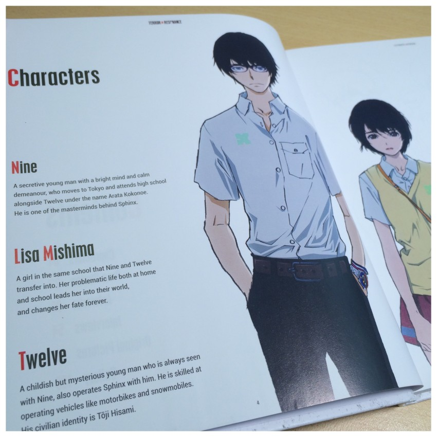 A glimpse at the character section