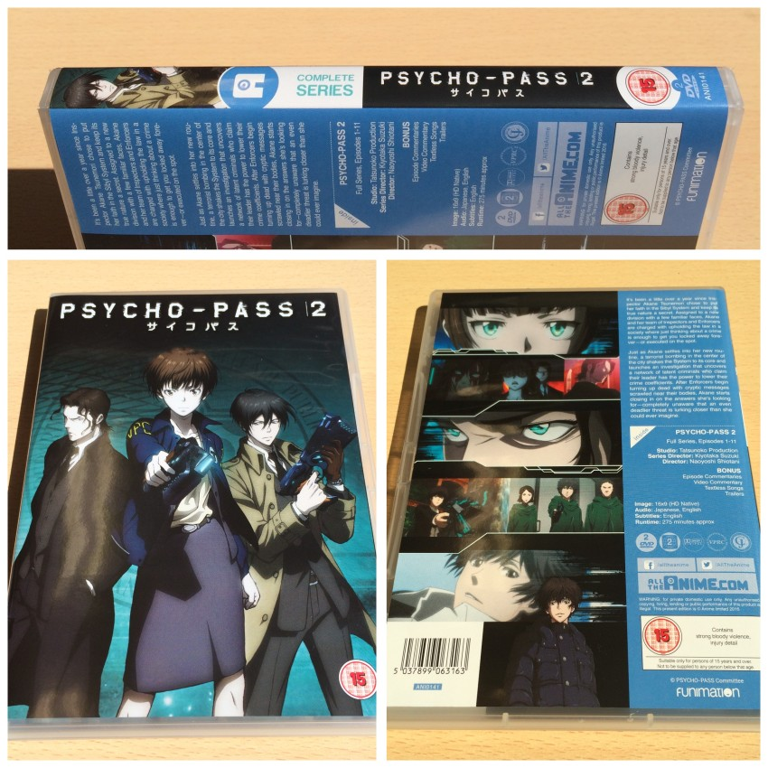 The reverse sleeve design of our Psycho-Pass 2 DVD