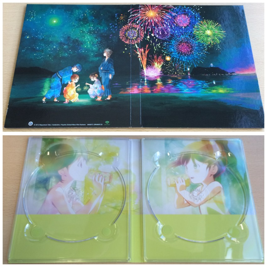Now we move onto the digipack. Top is the outer side, bottom is the inside without the discs
