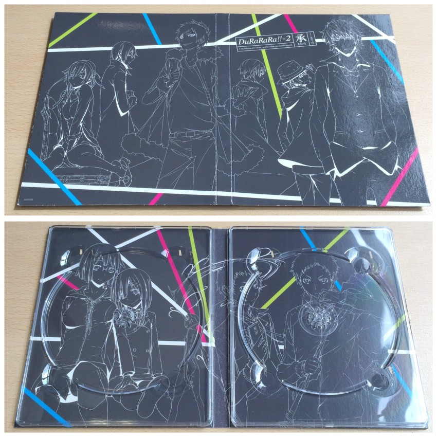 The digipack. Top image is the outer side, bottom is the inside with the disc removed.