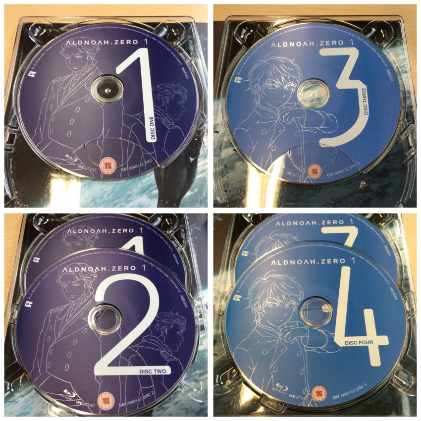 A close up of all four discs
