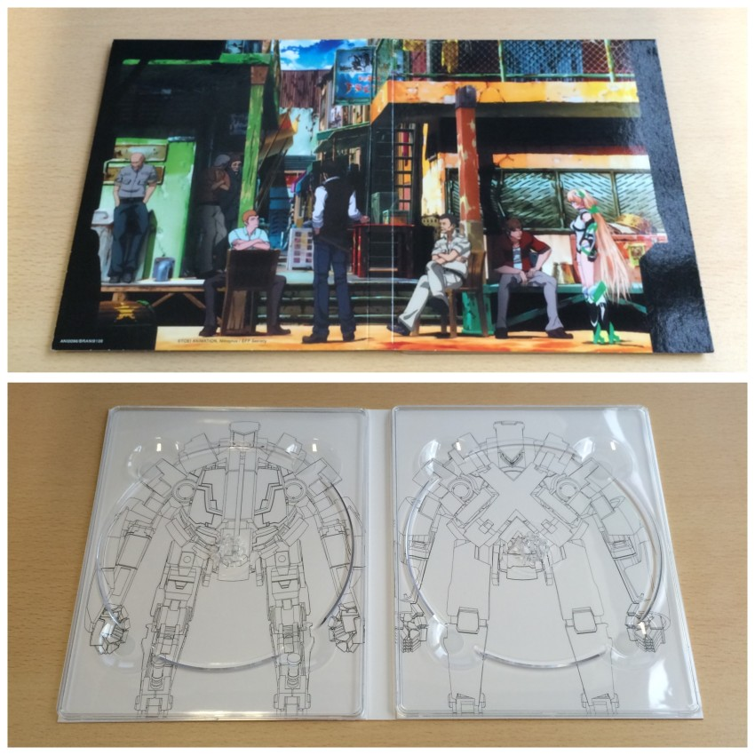 First all the digipack that holds the discs. Top image is the outer side, bottom image is the inner side, without the discs in place