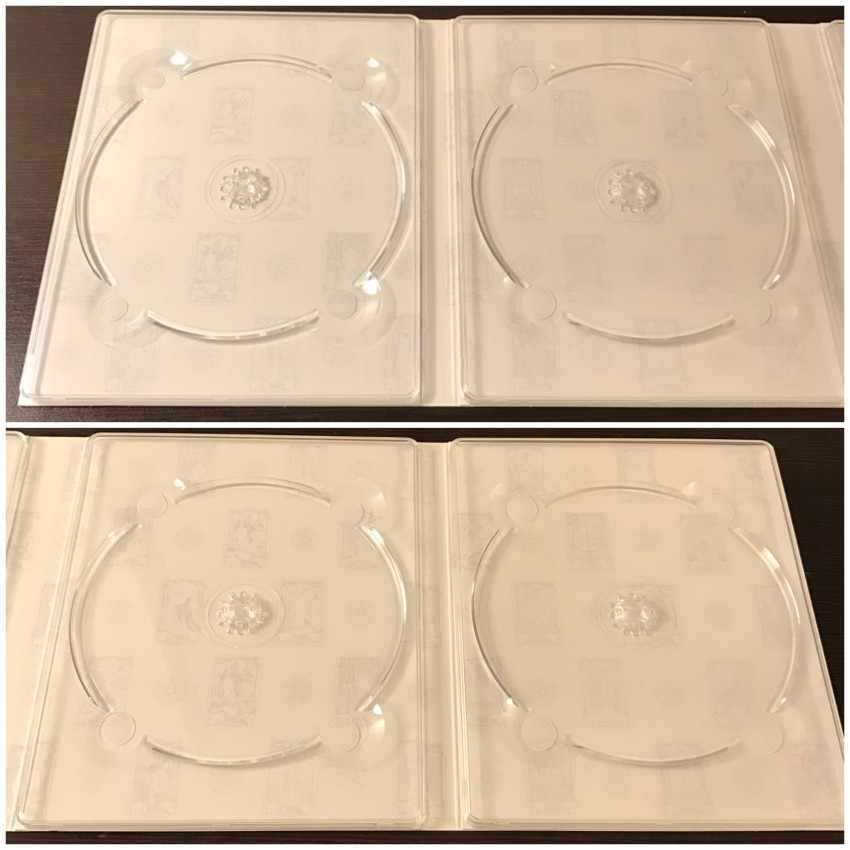 A closer look at the design on the inner side of the digipack.