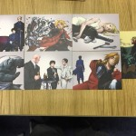 The seven art cards that come with part 1, the far right promo art is one we adore here too if we had to pick a fave!