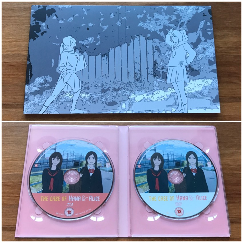 Now we get to the digipack holding the discs. The outer side (top) and the inner side with the discs in place (bottom)