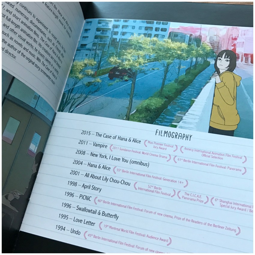 An introduction to Shunji Iwai. Here's a preview of the filmography portion of it.