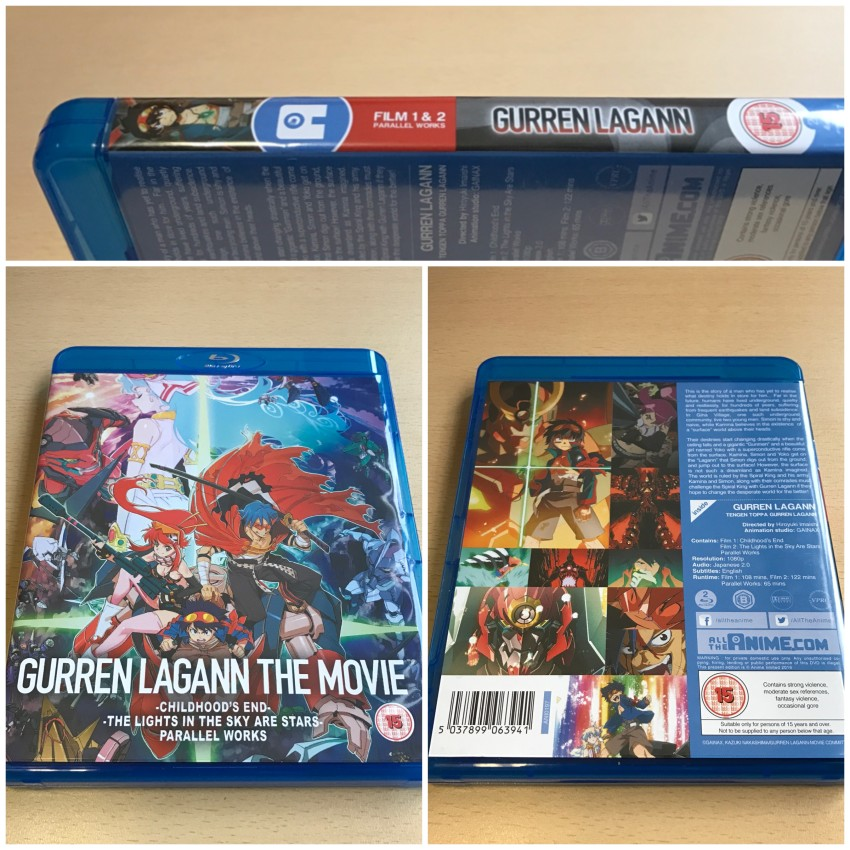 Now on the amaray case holding the two movie discs. Here's a look at the outside.
