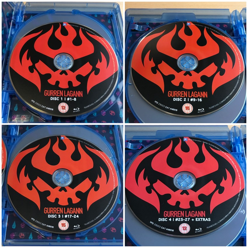 And now a quick look at the four discs inside this case.