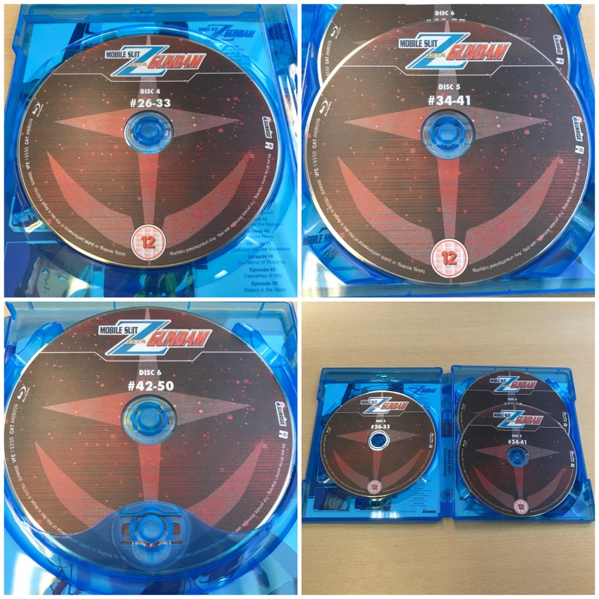 Here's a quick look at the three discs
