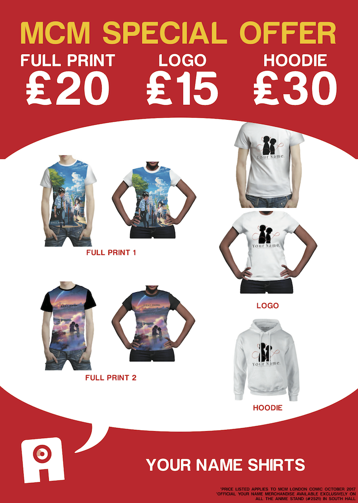 Clothing sizes available: S to XL
