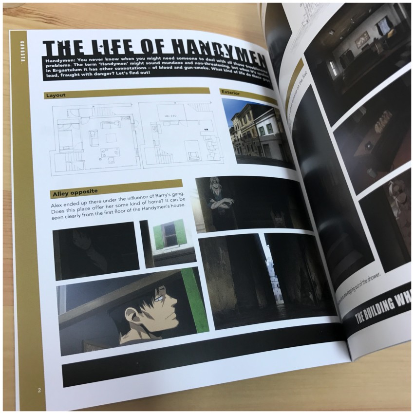 The booklet explores the surroundings and work of the 'Handymen' in the series. Here's a glimpse.