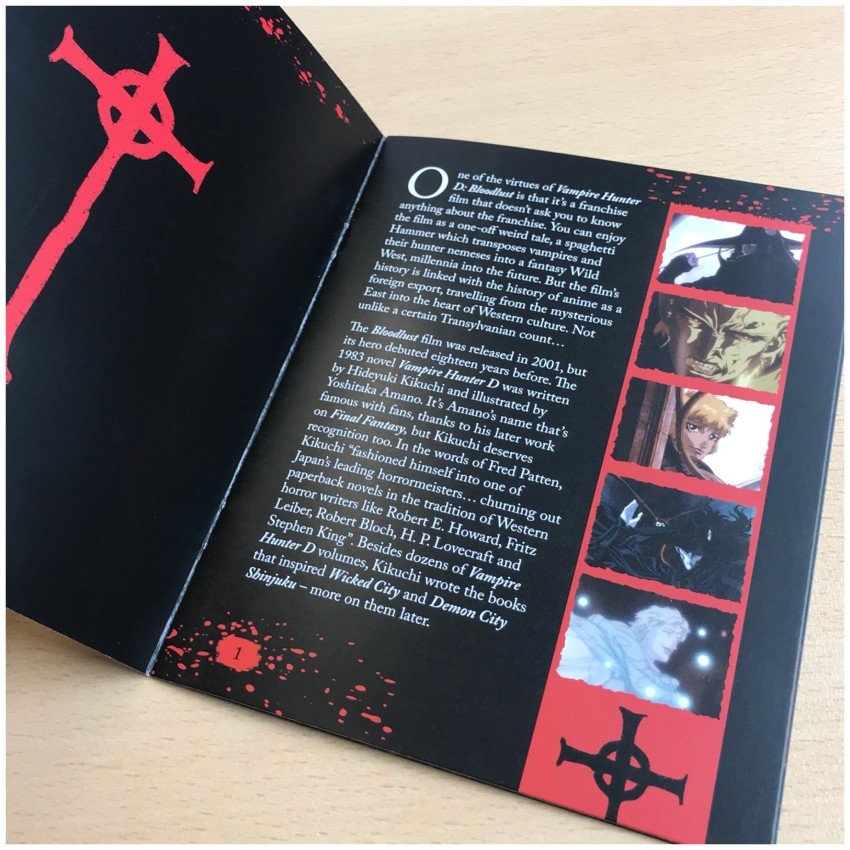 It features an article written by Andrew Osmond. We're not going to show you a lot of the booklet, but here'a a glimpse for you.
