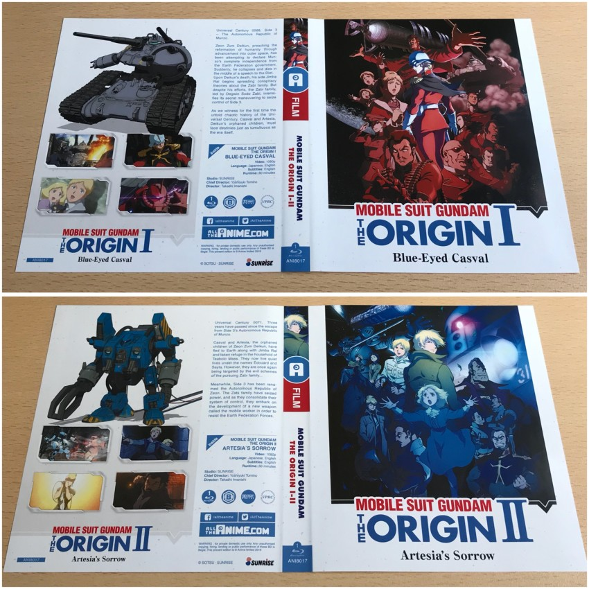 First of all, the first amaray. You can alternate the sleeve designs to correspond to a particular film on each disc, but you'll notice we've kept the spines neutral when when it's displayed on your shelf. Here's the sleeve designs with the top image being the default design.