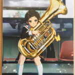 The rear of the Digipak allows us to admire our good friend tuba-kun, deftly modelled here by Hazuki.