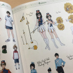 "There's no shortage of outfits and fashion choices to be found throughout this series, and you can admire all of that design work in the ""costumes"" section of the book."