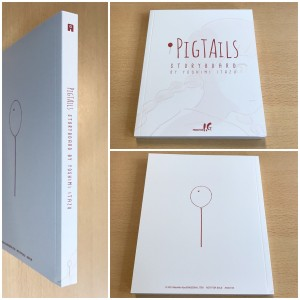 The first book is the 156-page Pigtails storyboard book