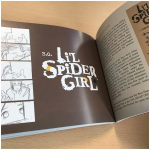 Next up is Li'l Spider Girl. You'll also get an overview of the film along with information on those involved in the project. Plus there's some art included too!