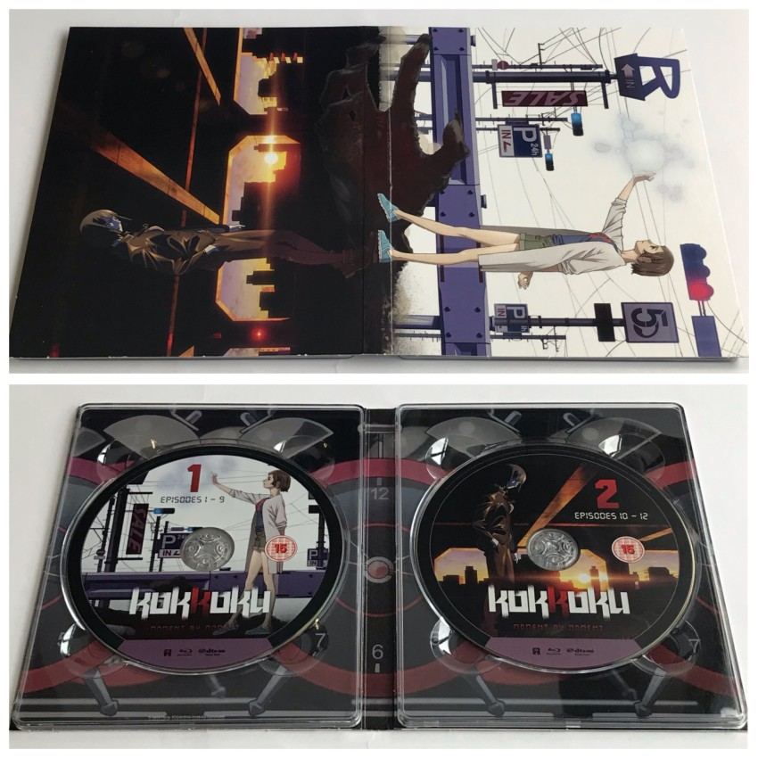 The digipack, outer side (top) and inner side with discs in place.