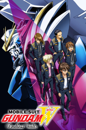 Promotional artwork for Gundam Wing Endless Waltz - being used here for reference only