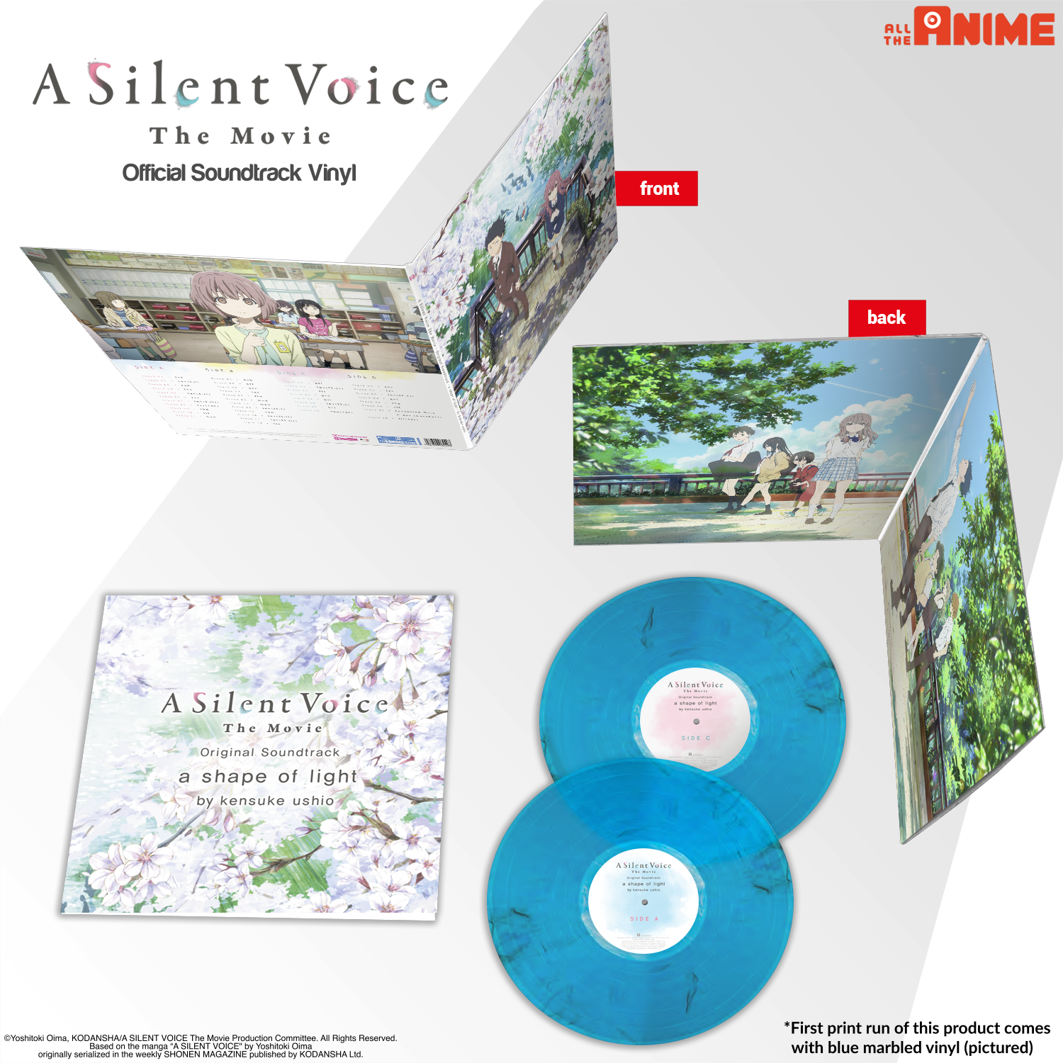 A Silent Voice Soundtrack Vinyl (first print Marbled Vinyl) - Coming 25th November 2019