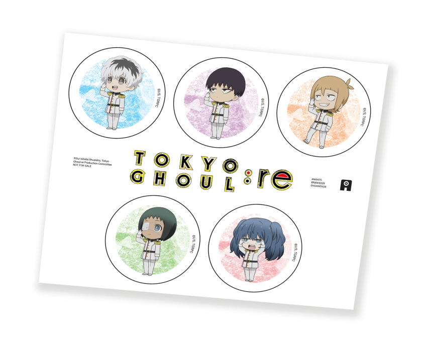 Tokyo Ghoul: re - Part 1 Collector's Edition - AllTheAnime.com shop exclusive bonus stickers