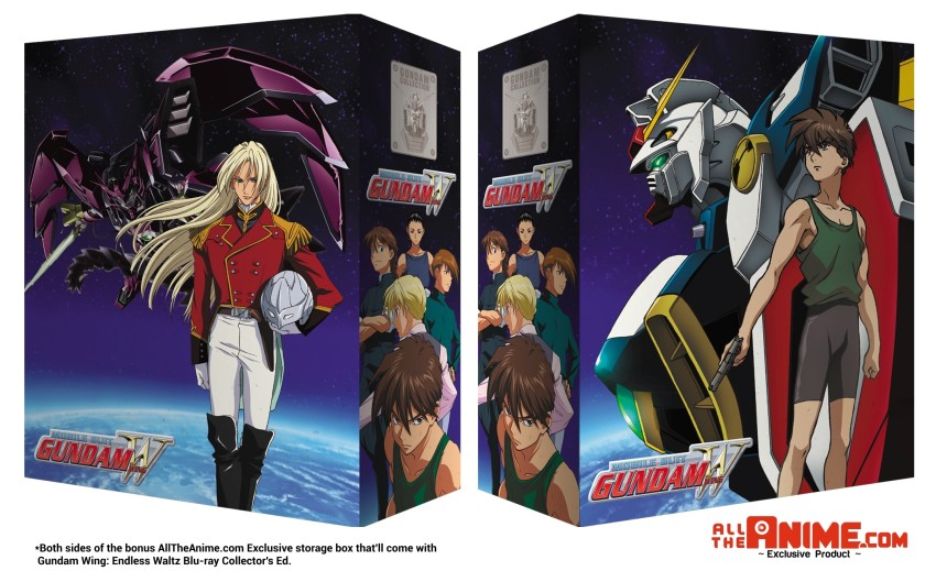 The bonus AllTheAnime.com Exclusive storage box that'll come with Gundam Wing: Endless Waltz Blu-ray Collector's Ed.