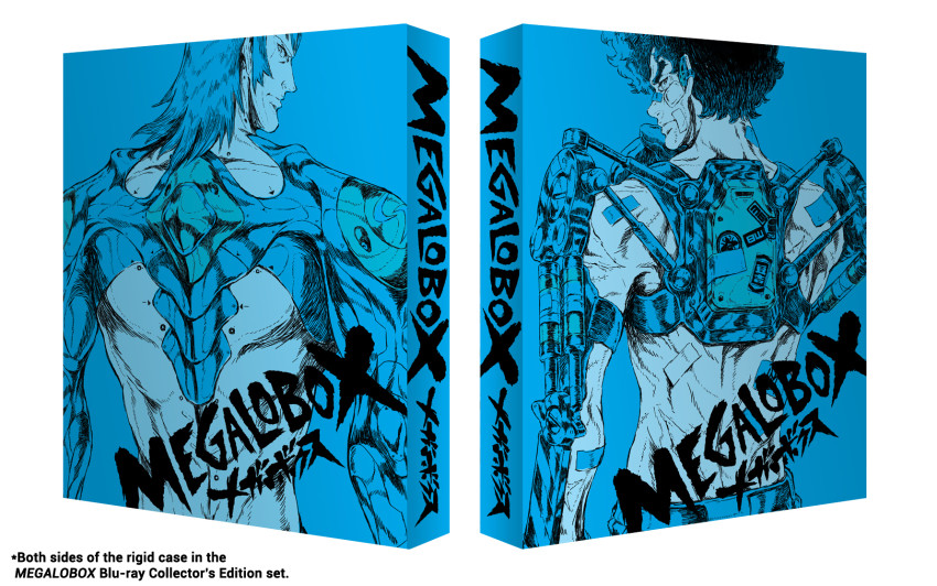 Both sides of the rigid case in our MEGALOBOX Blu-ray Collector's Edition set - out July 29th July