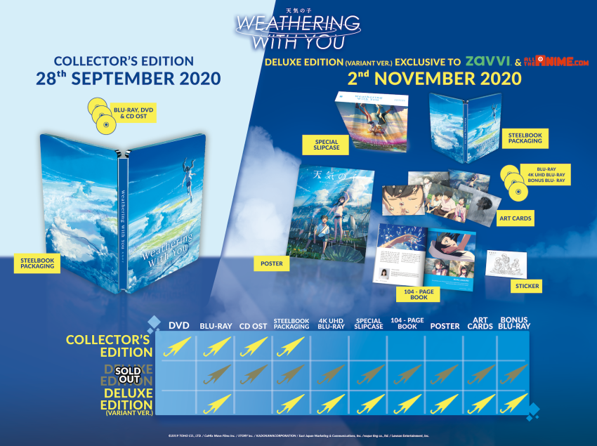 Weathering With You Deluxe Edition - 4K UHD + Blu-ray + Bonus BD variant (AllTheAnime.com and Zavvi.com Exclusive)