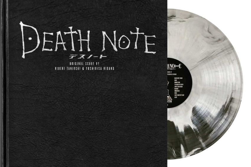 Death Note notebook_front and vinyl
